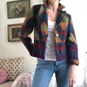 Western bohemian tribal blazer jacket